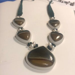 Jewelry - Heart and Tear Shaped Stone Necklace